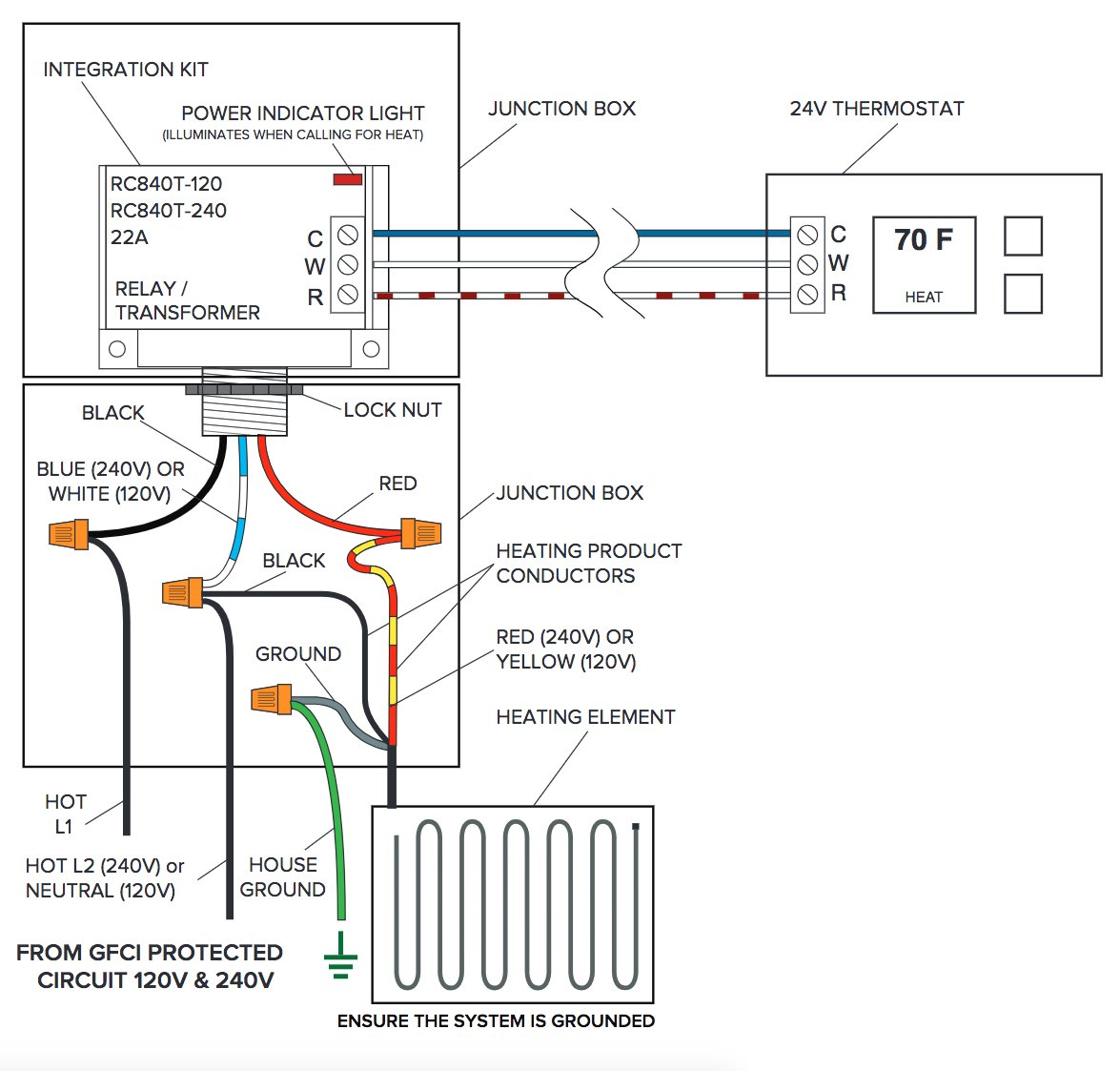 hight resolution of third party control integration relay with built in transformerwiring diagram for floor heating relay with built