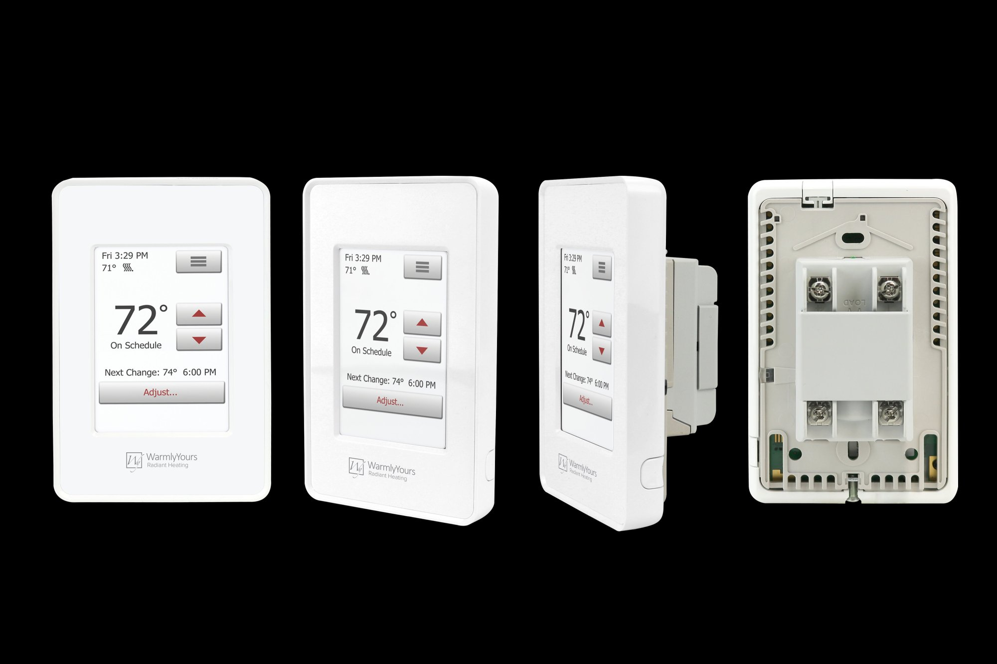 hight resolution of nspire touch programmable thermostat white