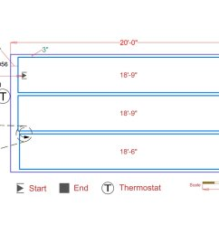 slab heat mats example floorplan [ 1200 x 899 Pixel ]