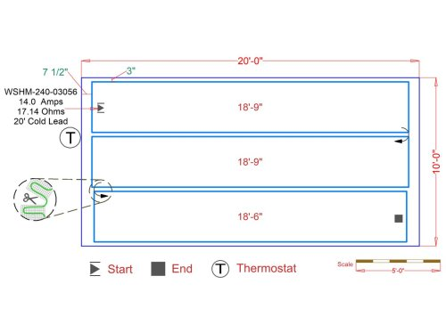 small resolution of slab heat mats example floorplan