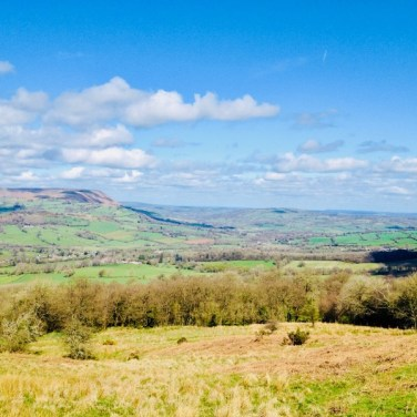 From the Skirrid towards Garn Farm