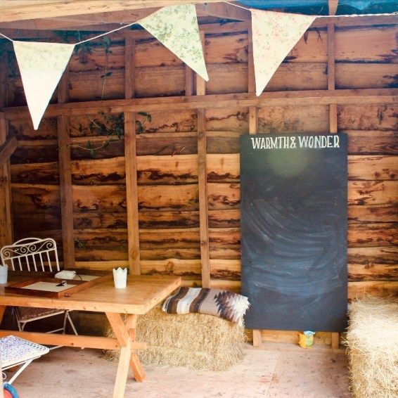 Warmth and Wonder - play shed
