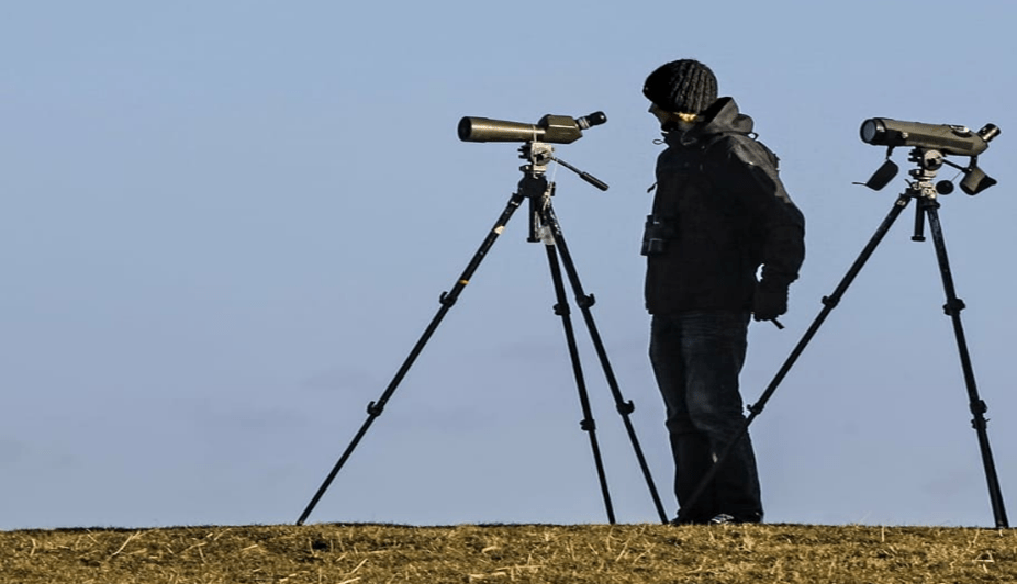 using a spotting scope