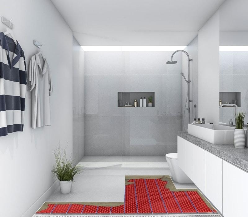 how much does bathroom underfloor