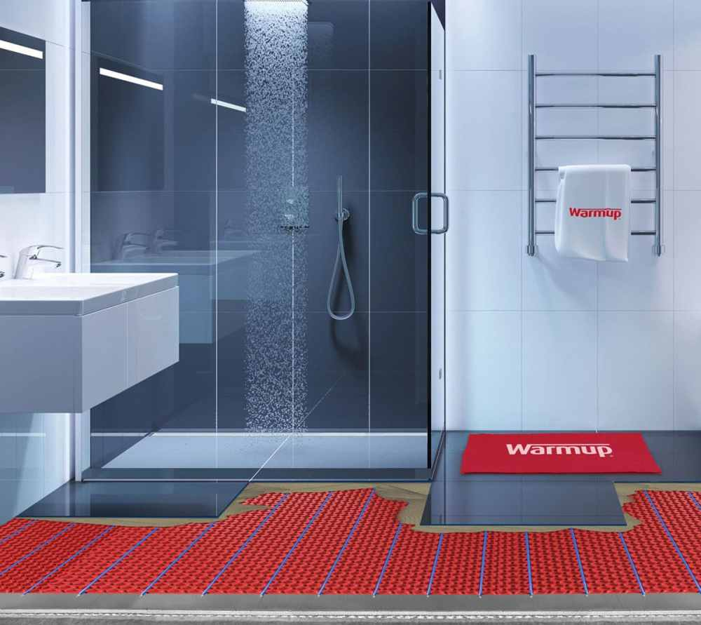medium resolution of wet rooms with underfloor and wall heating system