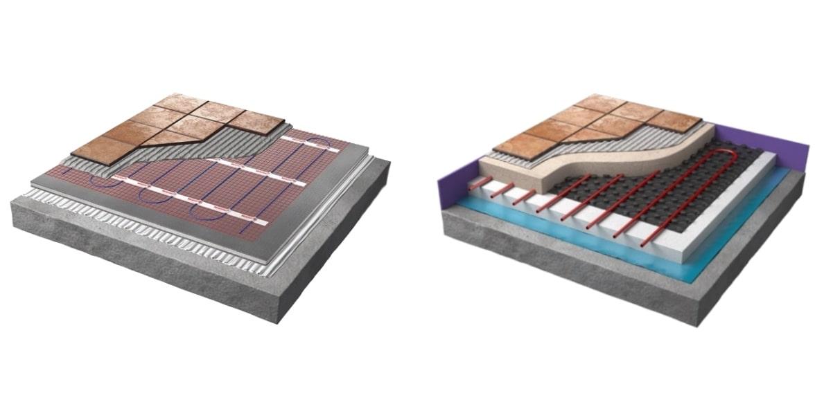 electric floor heating vs water based