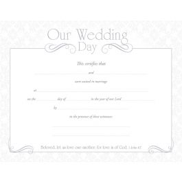 Marriage Certificate / 8-1/2