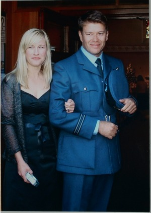 Kellie Merritt and her husband Paul Pardoel, who was killed in Iraq in 2005.