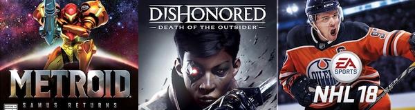 New Retail Releases Metroid Samus Returns Dishonored