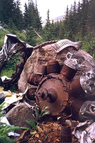 B17 Flying Fortress crash from 1944 located in Arizona