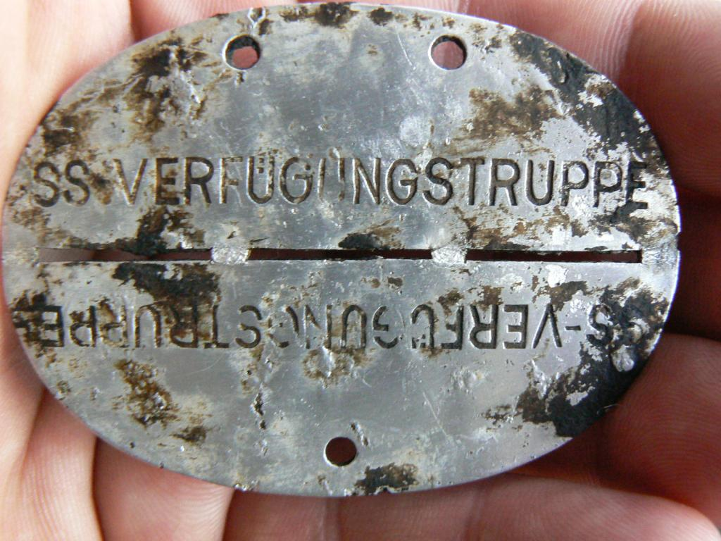 What's the SS badge Erkennungsmarken