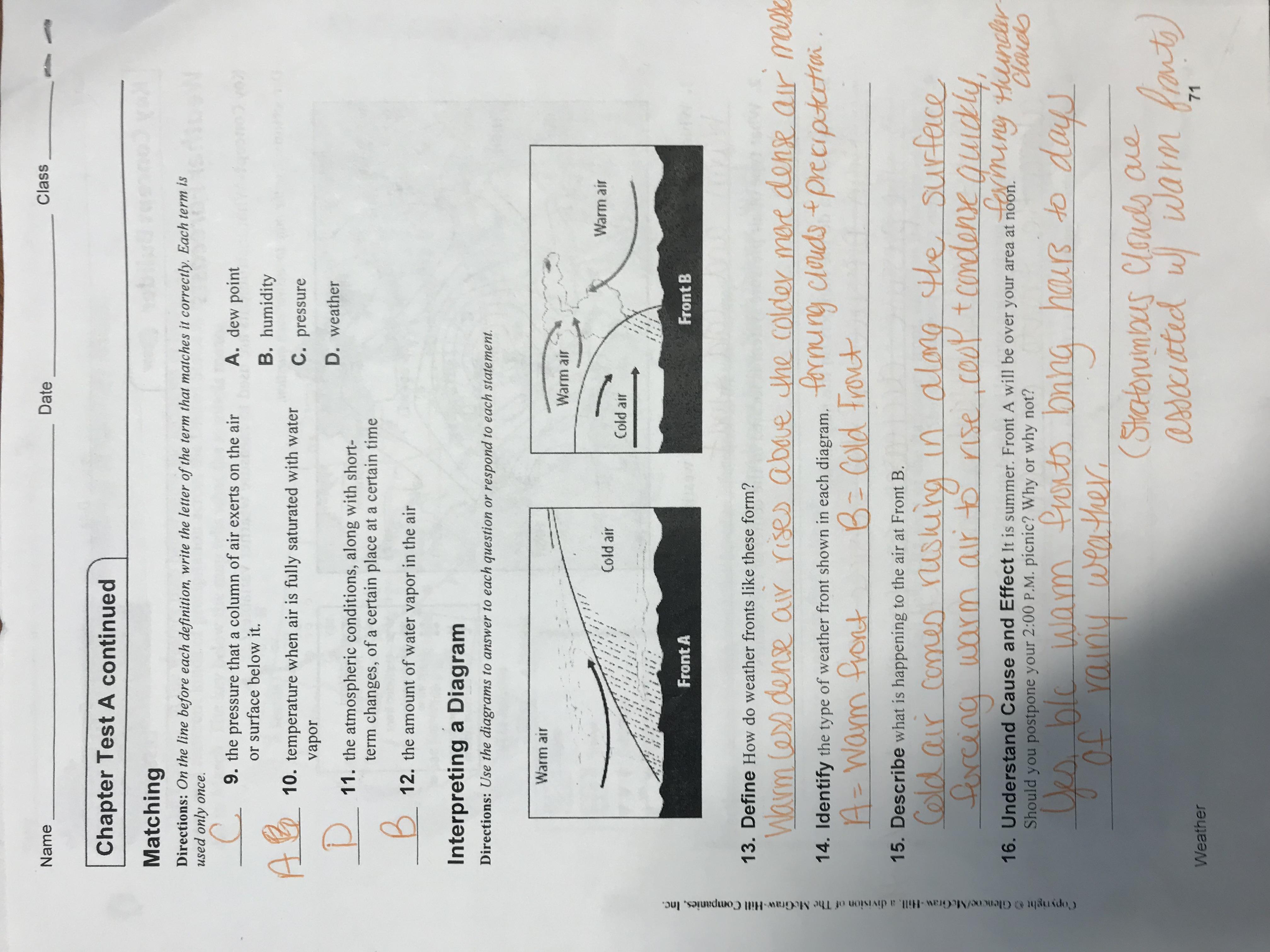 Best Amanda Weather Worksheet Packet Answers