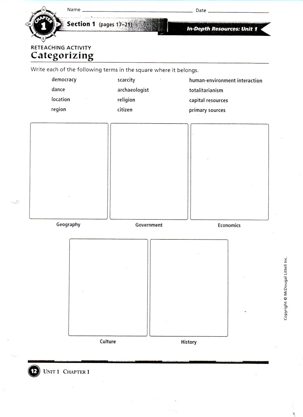 Geography Worksheet New 671 Five Themes Of Geography Worksheet Answers
