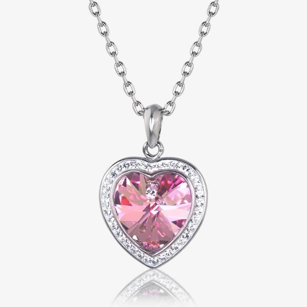Sabrina Heart Necklace Made With Swarovski Crystals