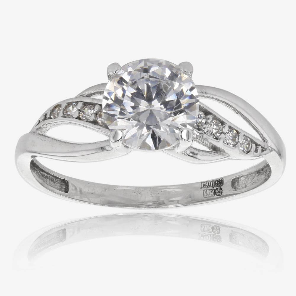 Petula 9ct White Gold DiamonFlash  Cubic Zirconia Ring