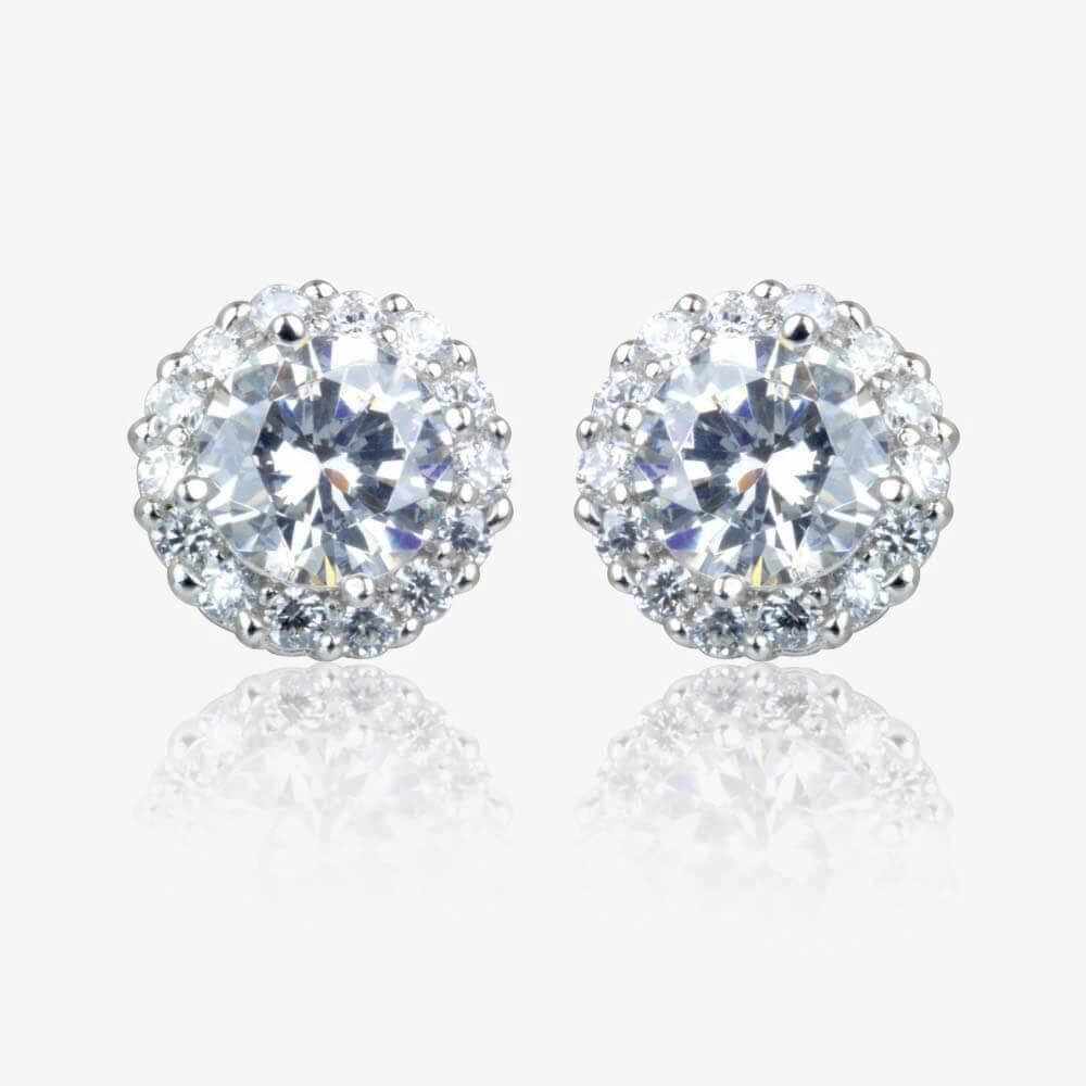 Diana Sterling Silver DiamonFlash Cubic Zirconia Cluster