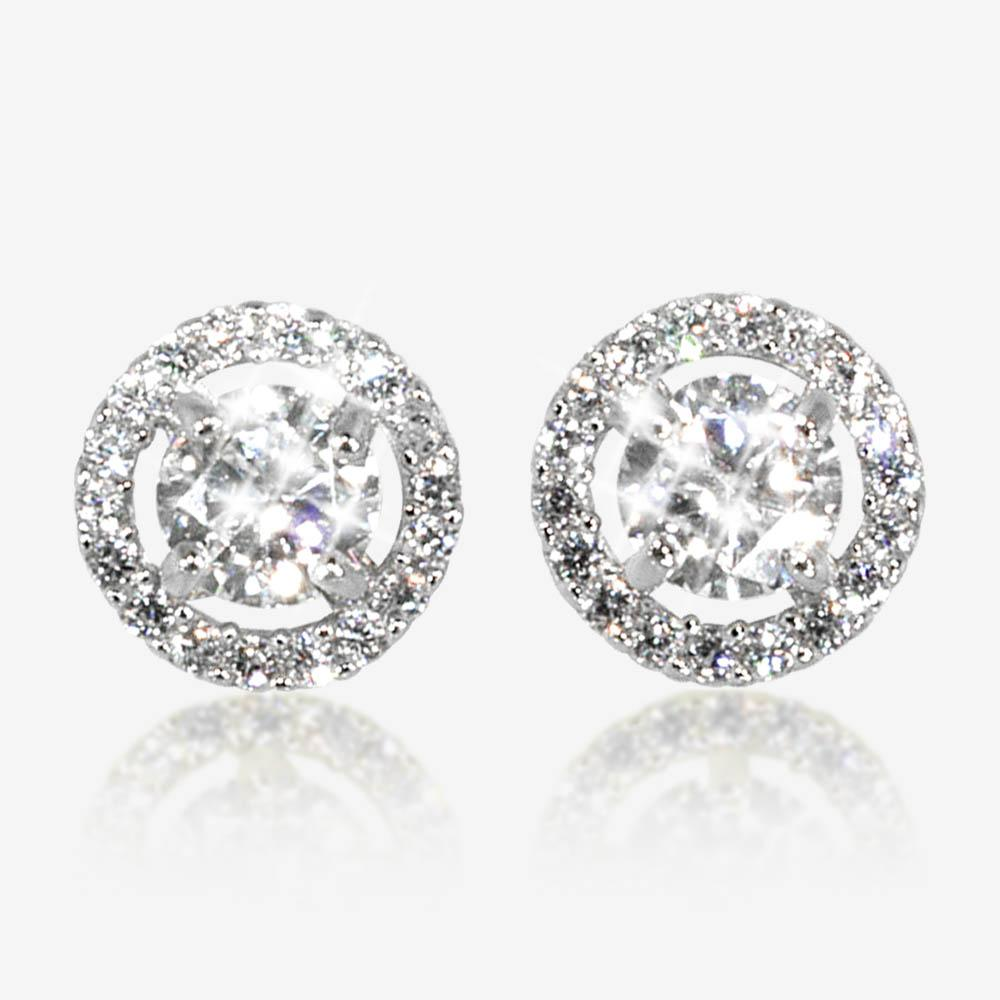 The Amelia Sterling Silver DiamonFlash Cubic Zirconia Stud