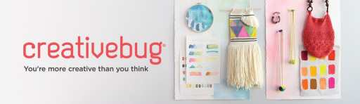 "Creativebug logo with tagline ""You're More Creative Than You Think"""