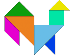 Tangrams in organized shape