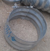"Culvert Band Coupler 12"" wide for 12"" Culvert Pipe ..."