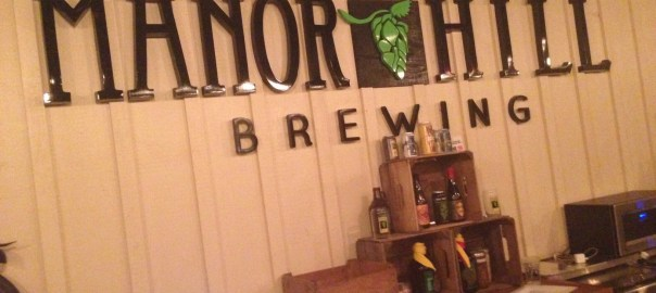 Manor Hill taproom behind the bar