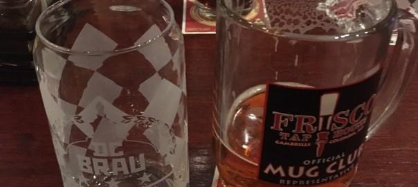 DC Brau glass & mug of Corruption