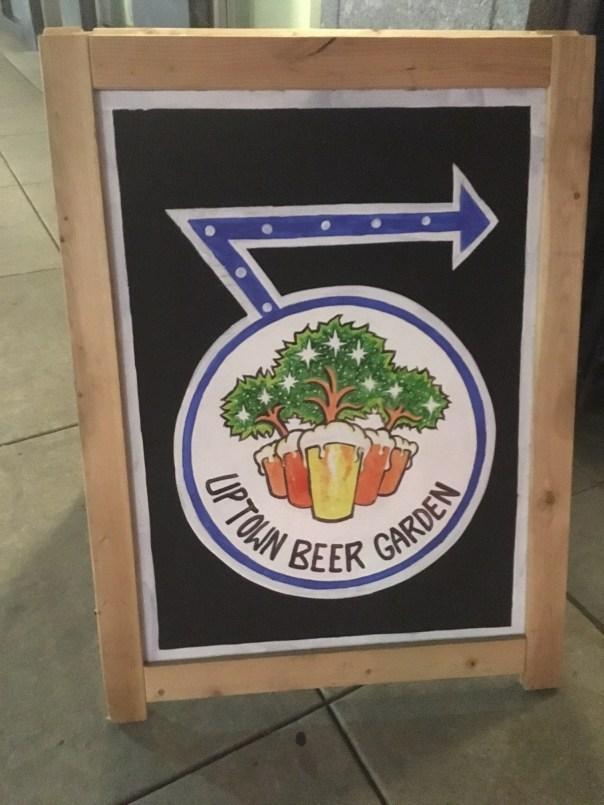 Uptown Beer Garden Sign