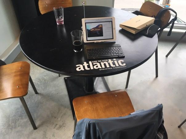 """My """"desk"""" at Atlantic"""