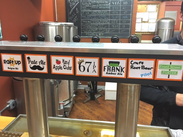 Bull and Goat Brewery Taps