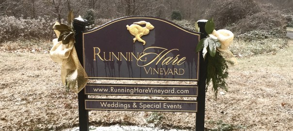 Running Hare Vineyard, home of Calvert Brewing Farm and Beer Garden