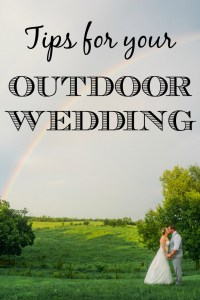 Tips for your outdoor wedding
