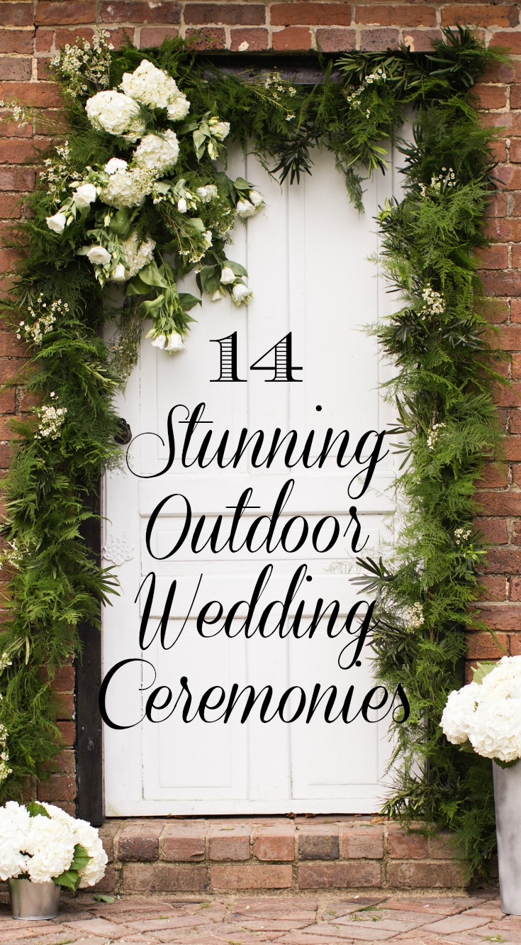 14 Stunning Outdoor Wedding Ceremonies at Warrenwood Manor