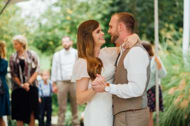 Bride & Groom dance first dance at wedding reception