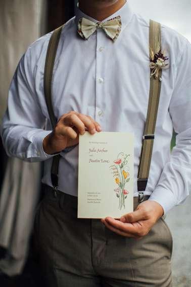 Vintage Wedding Ceremony Program