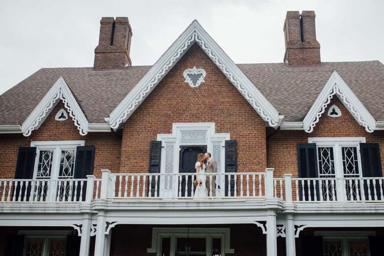 Couple on Front Porch of Warrenwood Manor
