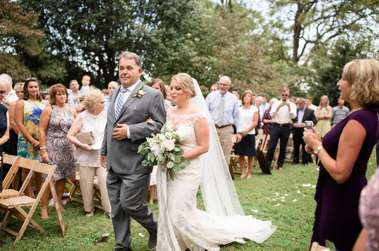 Bride & her father walk down aisle of timeless southern ceremony