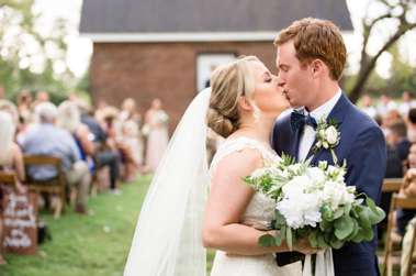 Timelessly Southern Couple at Warrenwood Manor wedding ceremony