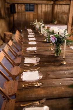 Head Table at Classy Southern Barn Wedding