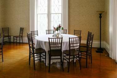 Ivory wedding reception in Warrenwood Manor
