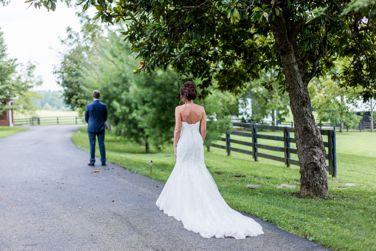 First look between bride & groom