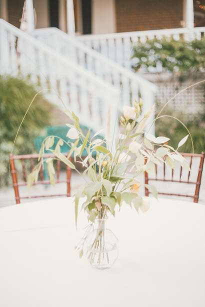 Minimalist centerpiece, greenery only, eucalyptus. Cassie Lopez Photography