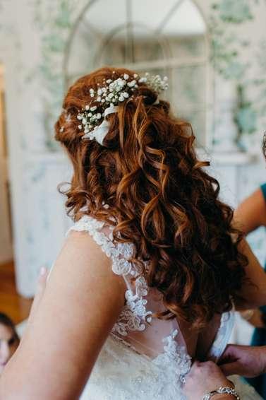Curly half-up bridal hair
