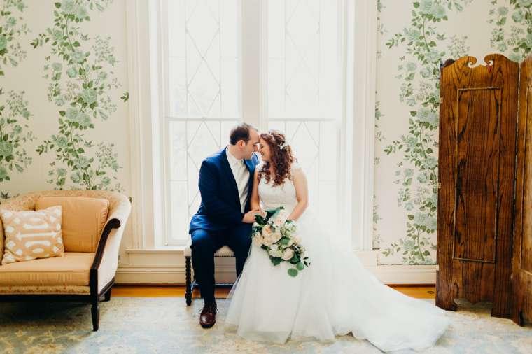 Bride & Groom in old Kentucky home turned wedding venue