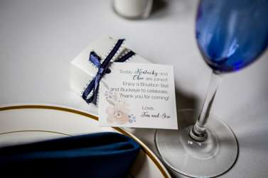 Unique wedding favor with Kentucky and Ohio flair