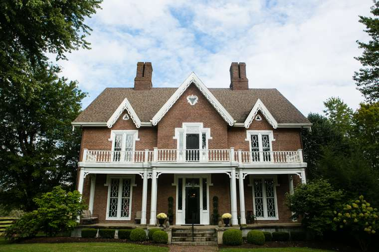 Gothic style historic mansion in rural Kentucky