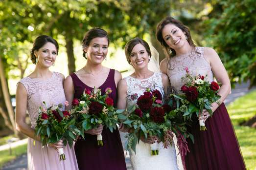 Mix and match bridesmaid dresses for fall