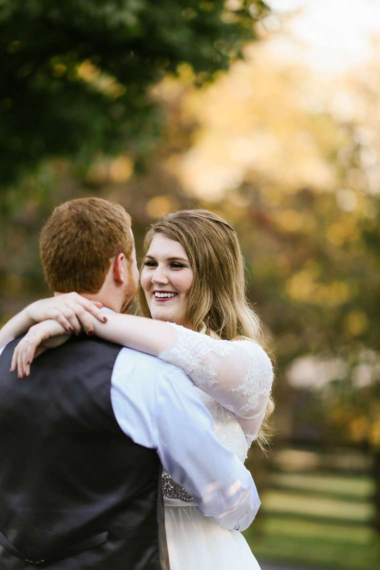 First dance, outdoors at Warrenwood Manor