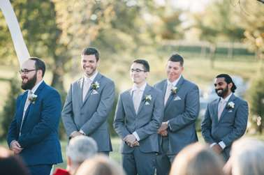 Outdoor fall Outdoor fall wedding ceremony at Warrenwood Manor in Kentucky ceremony