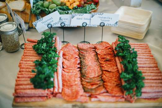 Meat tray for wedding cocktail hour