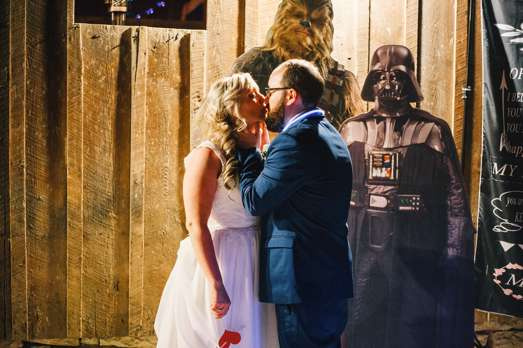 Star Wars themed wedding photo booth